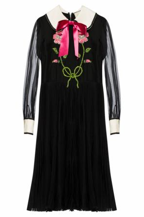 Appliqued flared dress od Gucci