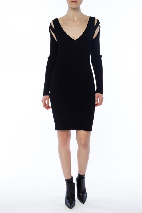 Ribbed dress with detachable sleeves od McQ Alexander McQueen