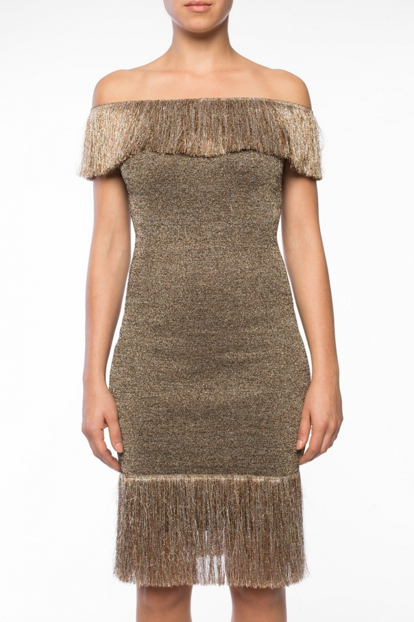 Lurex dress with fringes od Christopher Kane