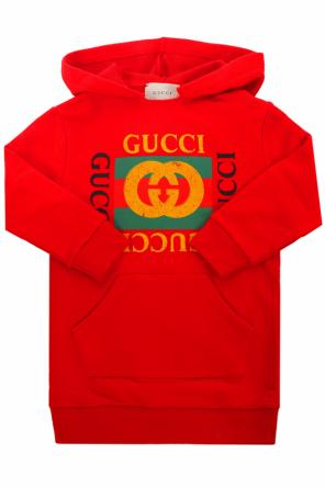 Logo-printed sweatshirt dress od Gucci Kids