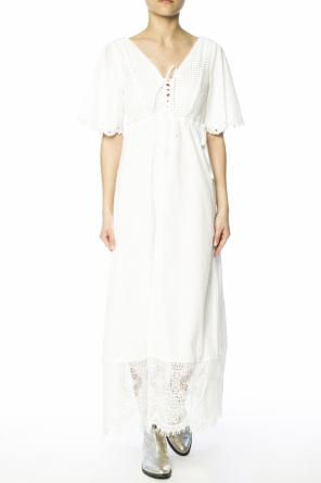 Long dress with openwork embroidery od McQ Alexander McQueen
