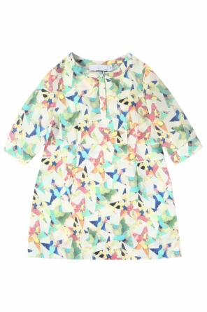 Flared silk dress od Stella McCartney Kids