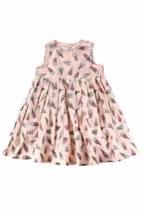 Patterned pleated dress od Stella McCartney Kids