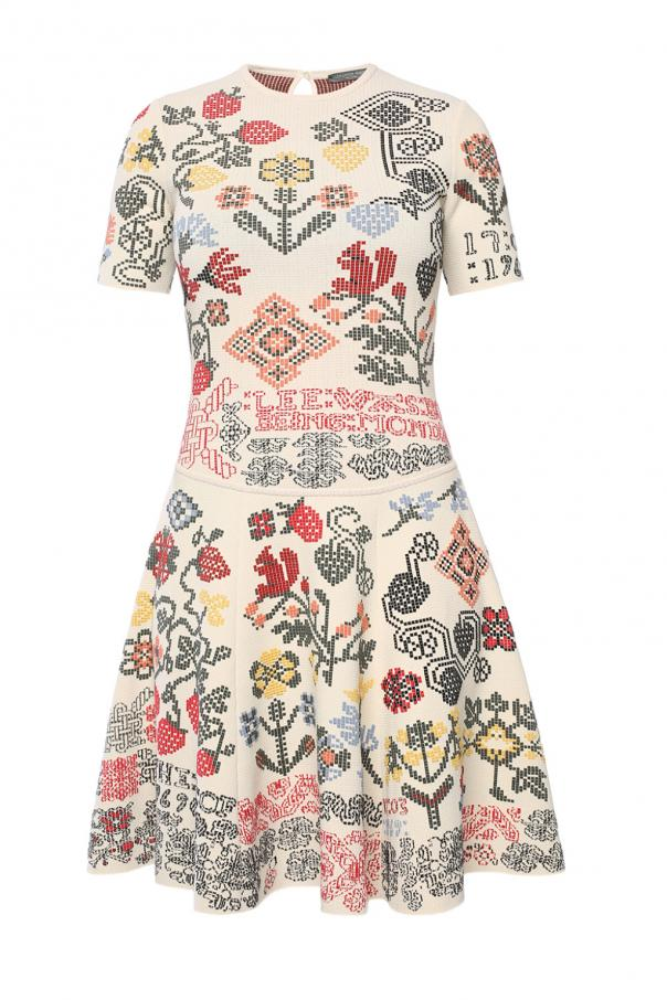 Patterned flared dress od Alexander McQueen