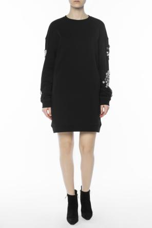 Appliqued sweatshirt dress od McQ Alexander McQueen