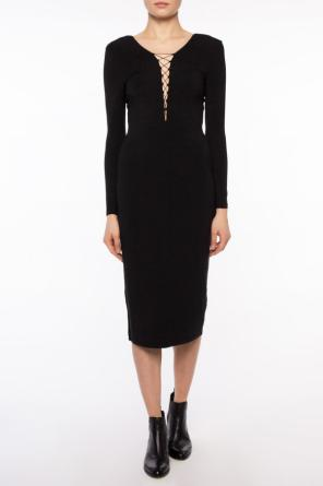 Lace-up collar dress od T by Alexander Wang
