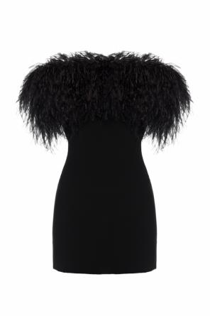 Dress with ostrich feathers od Saint Laurent