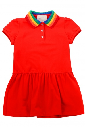 Dress with rainbow collar od Gucci Kids