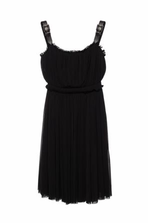 Pleated dress with straps od Alexander McQueen