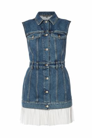 Ruffle denim dress od Alexander McQueen