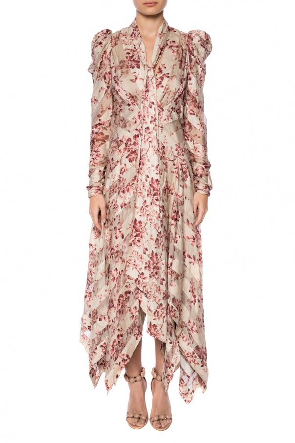 dress with self tie zimmermann vitkac shop online. Black Bedroom Furniture Sets. Home Design Ideas