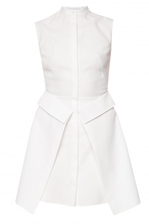 Band collar trapeze dress od Alexander McQueen