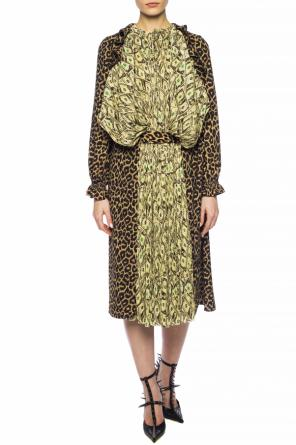 Double-layered patterned dress od Balenciaga
