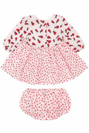 Dress with a pattern including a ladybug and heart motif od Stella McCartney Kids