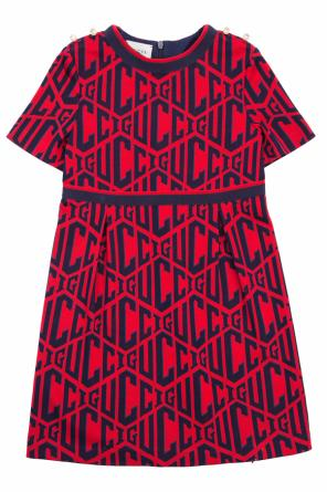 Logo-embroidered dress od Gucci Kids