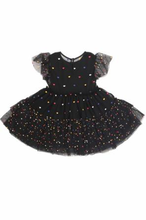 Flared dress with a heart motif od Stella McCartney Kids