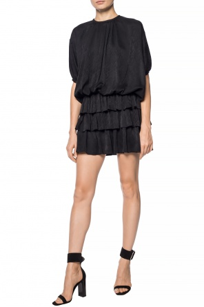 Ruffled silk dress od Saint Laurent