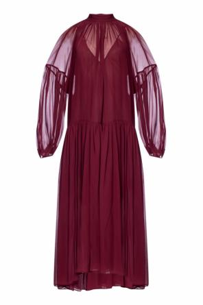 Ruffled silk dress od Stella McCartney