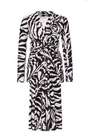 Zebra pirnted dress od Balenciaga