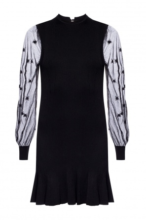Ribbed dress with ruffle od Alexander McQueen
