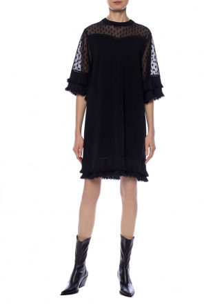 Lace-trimmed dress od McQ Alexander McQueen
