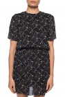 Patterned dress with short sleeves od Saint Laurent
