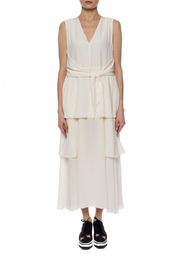 Silk ruffled dress od Stella McCartney