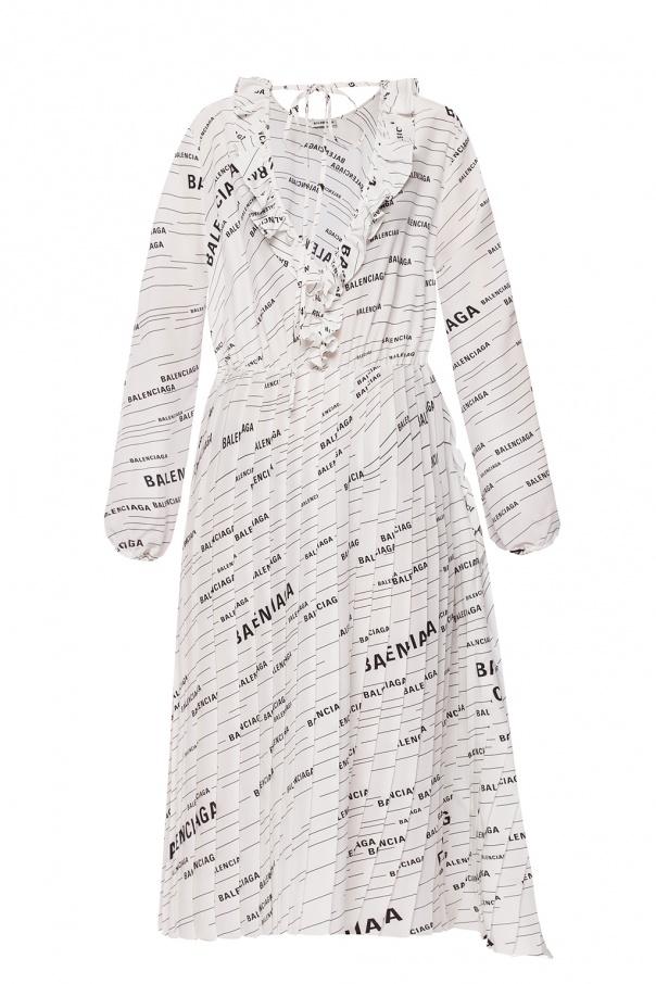 8f76eeb0d4 Sukienka z nadrukowanym logo Balenciaga - sklep internetowy Vitkac