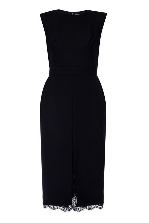 Lace-trim dress od Alexander McQueen