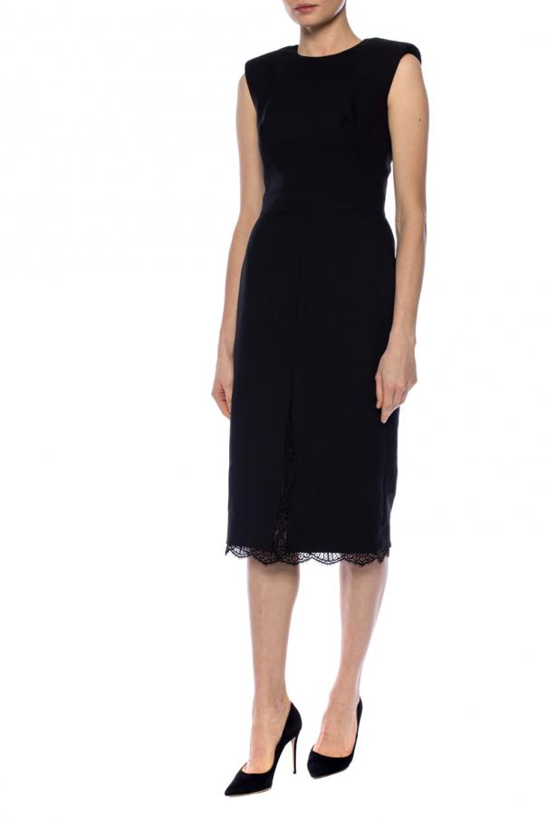 Lace-trim dress od Alexander McQueen