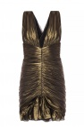 Saint Laurent Draped silk dress