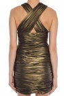Saint Laurent Draped silk dress