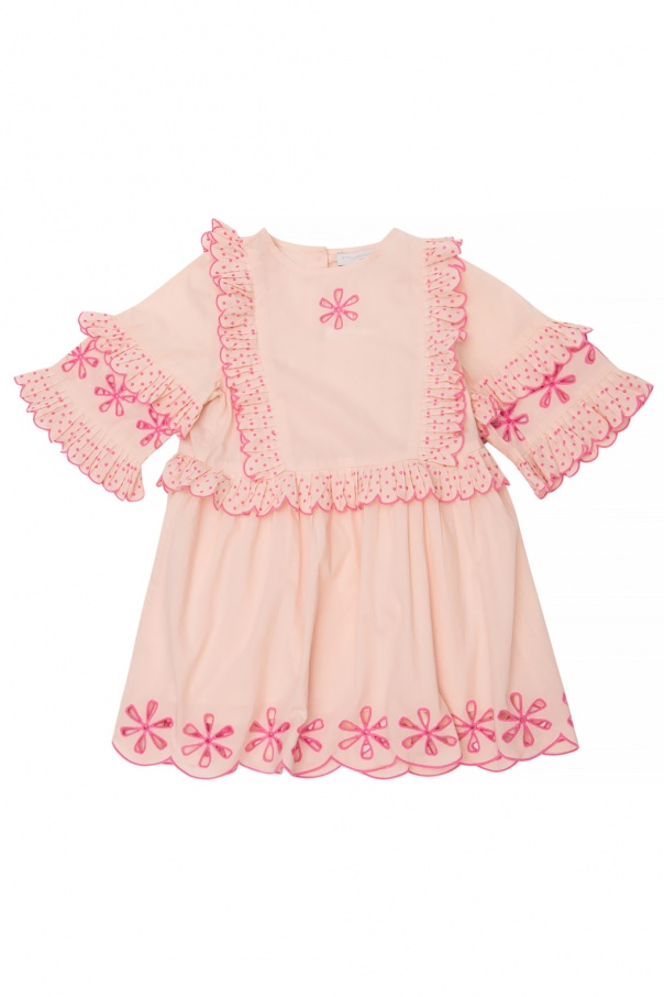 Stella McCartney Kids Two-layered openwork dress