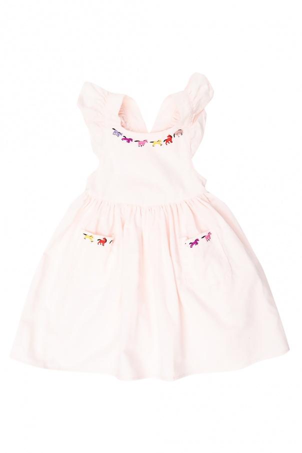 Stella McCartney Kids Corduroy dress on straps