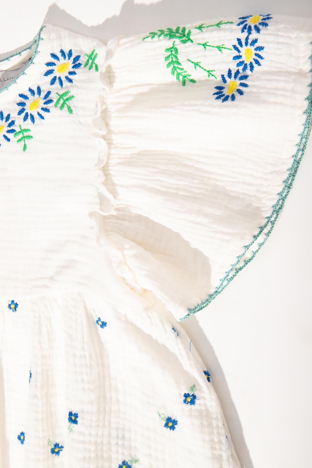 Stella McCartney Kids Sukienka z motywem kwiatowym