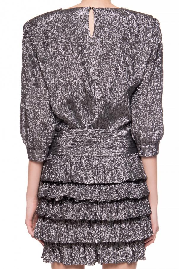 Saint Laurent Sukienka z falbanami gUVeMM6x