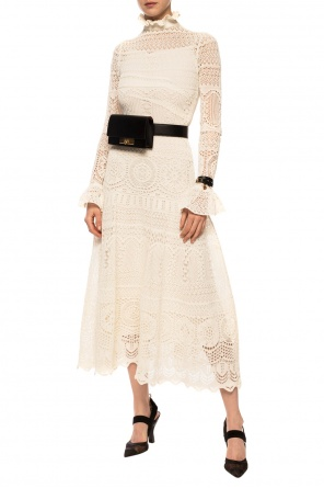 Lace dress with band collar od Alexander McQueen