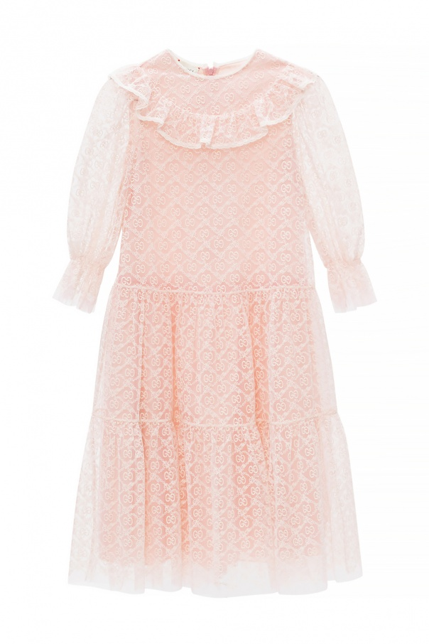 Gucci Kids Tulle dress with logo