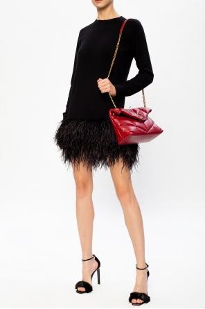 Feathered dress od Saint Laurent