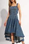 Alexander McQueen Denim dress with adjustable straps