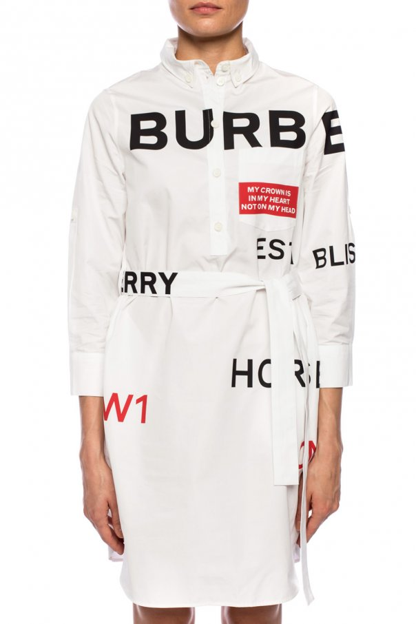 Dress with belt od Burberry