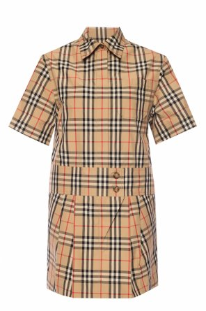 Check dress od Burberry