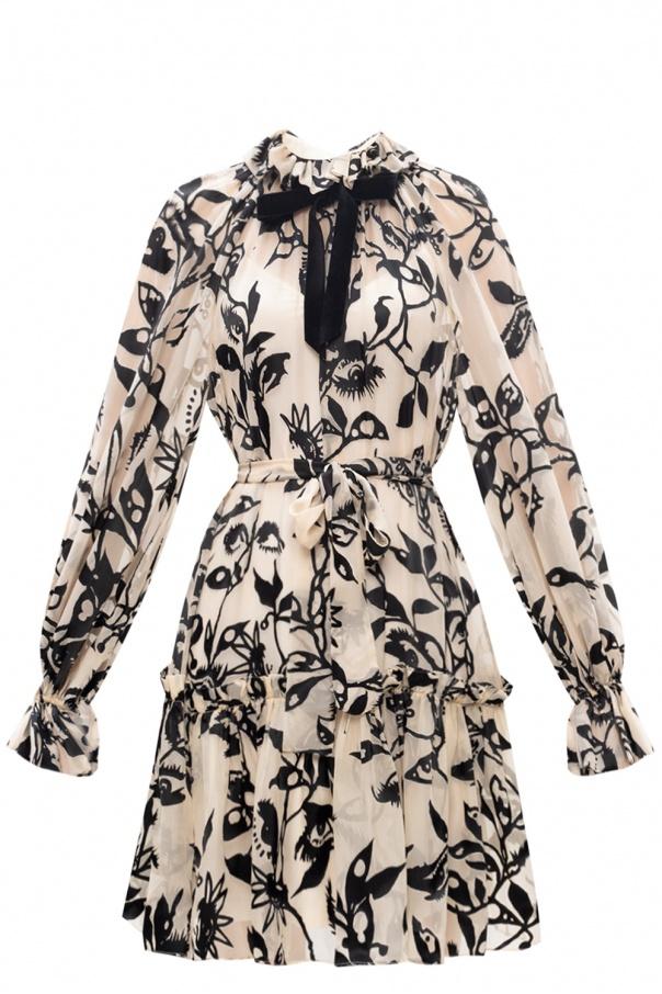 Zimmermann Mock neck patterned dress