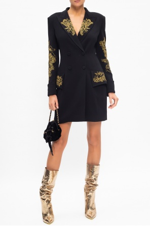 Dress with notch lapels od Moschino