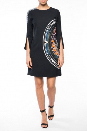 Colourful-printed dress od Versace