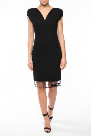 Sheer-trim dress od Versace