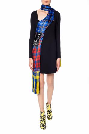 Dress with fringed scarf od Versace