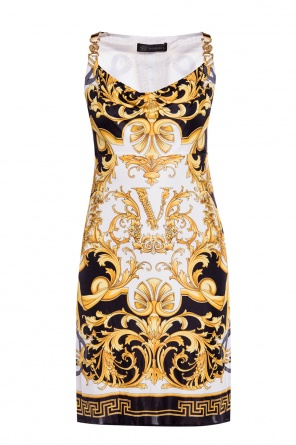 Patterned sleeveless dress od Versace