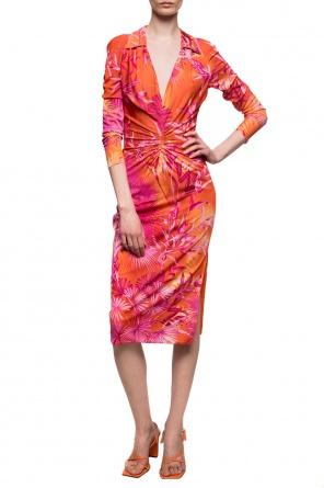花卉饰连衣裙 od Versace