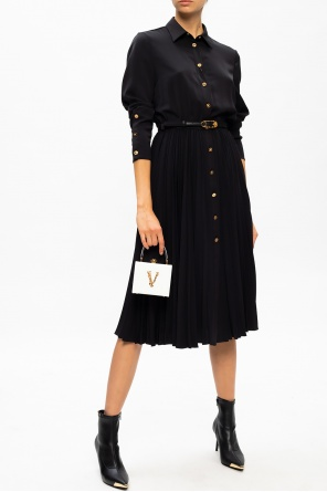 Pleated dress with long sleeves od Versace